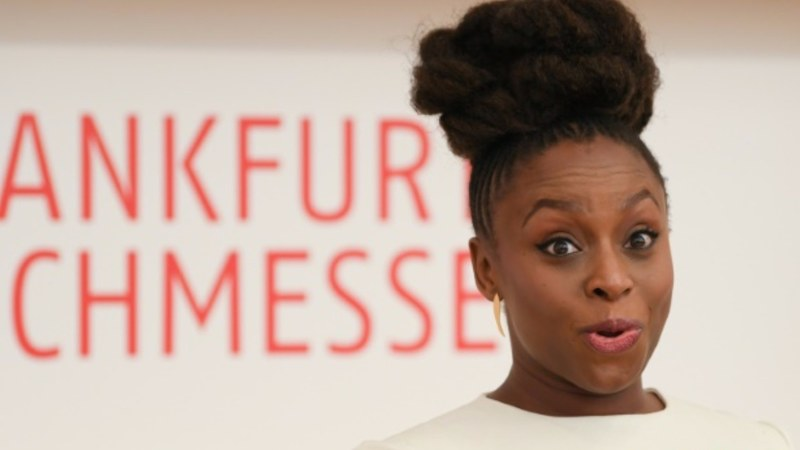 Adichie spoke about the fact that while women are speaking up more post #MeToo, men still aren't really listening