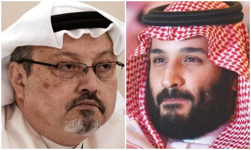 سعودی ولی عہد محمد بن سلمان (دائیں) اور صحافی جمال خاشقجی (بائیں) — فوٹو، فائل