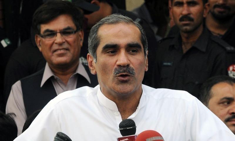 Former railways minister Khawaja Saad Rafique. — File