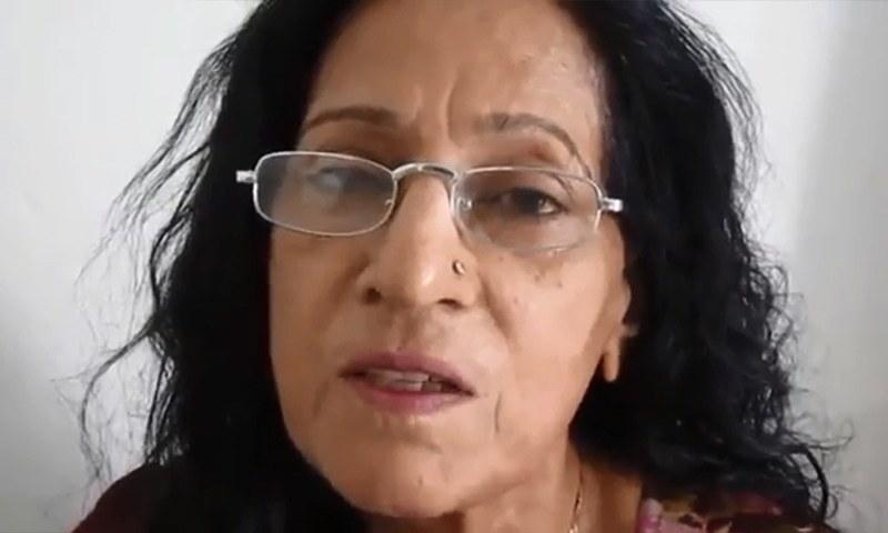 Dr Bhagwan Devi talks about Hindu community's plight in Sindh. — Screengrab Facebook