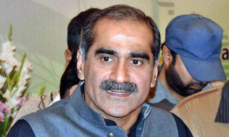 Senior Pakistan Muslim League-Nawaz (PML-N) leader and ex-railways minister Khawaja Saad Rafique. —File photo