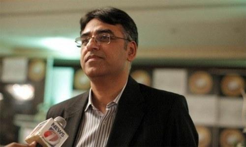 Minister of Finance Asad Umar — File