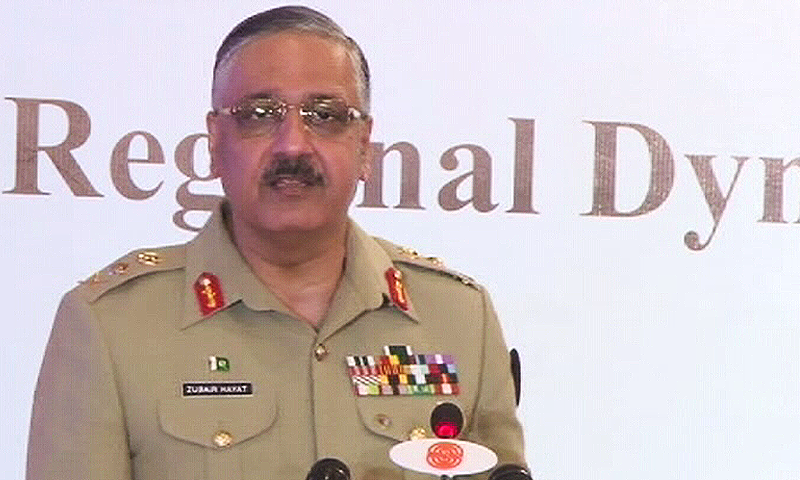 Chairman Joint Chiefs of Staff Committee (JCSC) Gen Zubair Mahmood Hayat. ─ DawnNewsTV