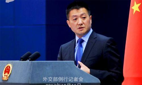 Chinese Foreign Ministry spokesman Lu Kang. ─ Photo/File