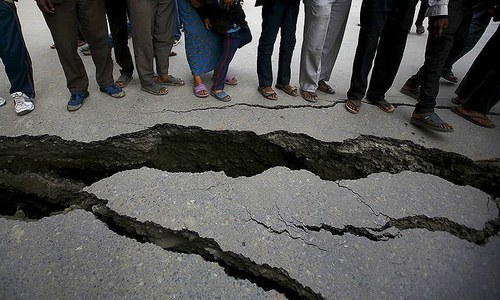 Mild tremors were felt in Rawalpindi, Islamabad and parts of Khyber Pakhtunkhwa on Friday evening. No loss of life or property has been reported yet. — File Photo