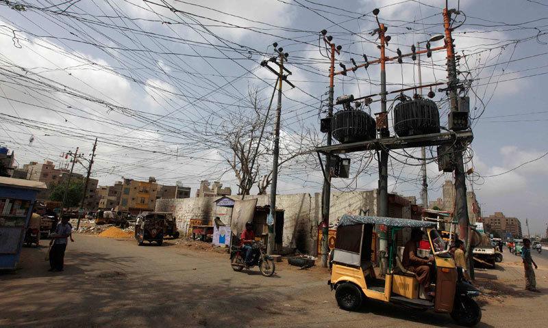 A power transformer in Karachi. —File photo