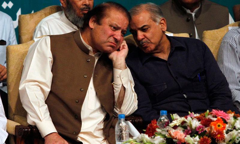 PML-N leaders Nawaz Sharif and Shahbaz Sharif. — Reuters/File