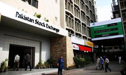 The Pakistan Stock Exchange building.— File