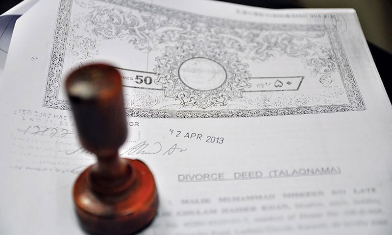 A divorce deed is seen in this file photo. — File