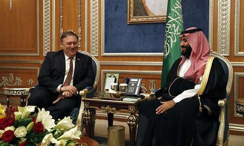 US Secretary of State Mike Pompeo meets with the Saudi Crown Prince Mohammed bin Salman. — File Photo