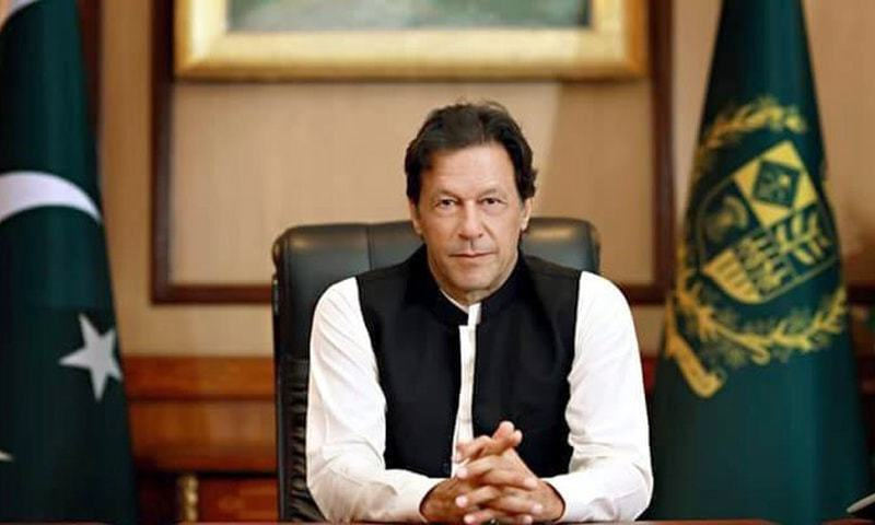 Prime Minister Imran Khan delivering a televised address to the nation. —File photo