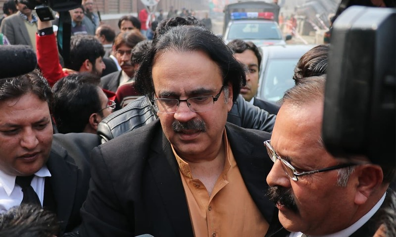 Dr Shahid Masood appears for a hearing at a court in this file photo. — White Star/File