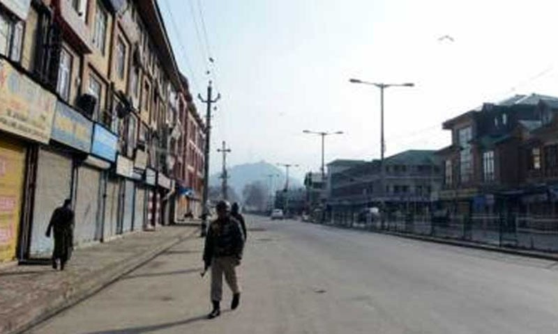 A complete shutdown is being observed in occupied Kashmir to mark the 'Black Day'. — Photo courtesy of Government of Pakistan Twitter.