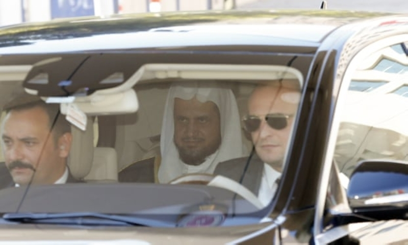 Saudi Arabia's Public Prosecutor Sheikh Saud Al Muajab leaves the courthouse after a meeting with Istanbul's chief public prosecutor