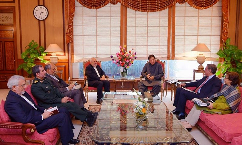 Prime Minister Khan meeting with Iran's Foreign Minister Javad Zarif. — Photo courtesy of Government of Pakistan Twitter