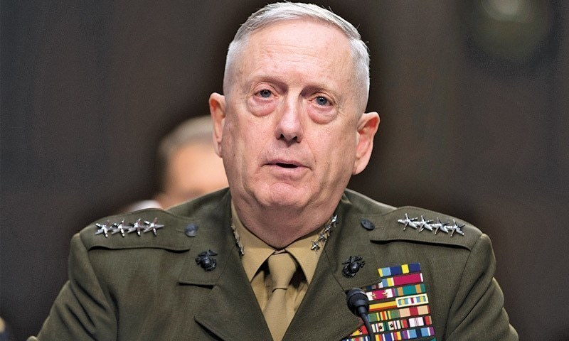 US Secretary of Defence James Mattis. — File Photo