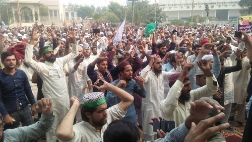 TLP workers told to disperse peacefully. — Photo/File