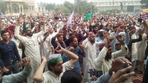 Protests had broken out across the country after the Supreme Court's verdict on October 30 acquitting Asia Bibi, a Christian woman previously condemned to death on blasphemy charges. — File photo