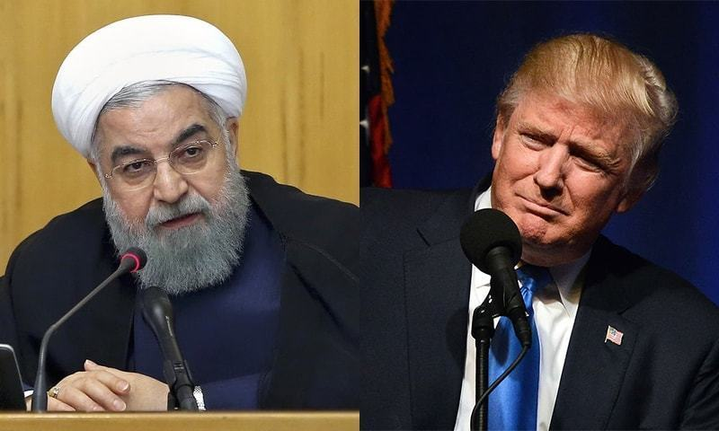 Iran's President Hassan Rouhani and US President Donald Trump. — File