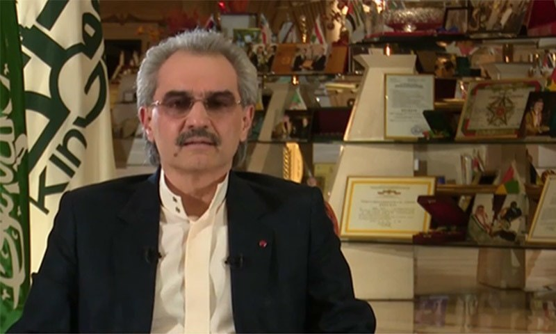 Prince Al-Waleed bin Talal  during an interview with Fox News. — Photo courtesy of Fox News