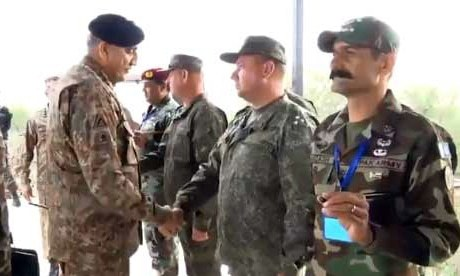 The army chief appreciated the participating troops for their dedication, skill and professionalism. —ISPR