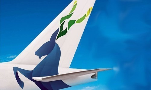 The Markhor image that was earlier placed on PIA aircraft. — File