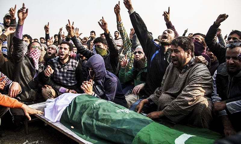 AJK President, PM say the first week of November is the bleakest chapter of Kashmir's history. — AP/File