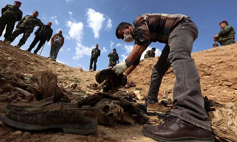 The United Nations in Iraq (UNAMI) and its human rights office said they had documented a total of 202 mass graves in parts of western and northern Iraq held by IS between 2014 and 2017. —AFP