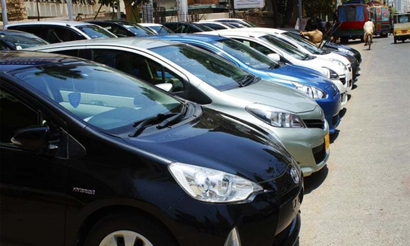The petitioner says the excise and taxation department refused to register 4,641 vehicles which were purchased even before the promulgation of the law.— Photo courtesy: Shahab Nafees/File
