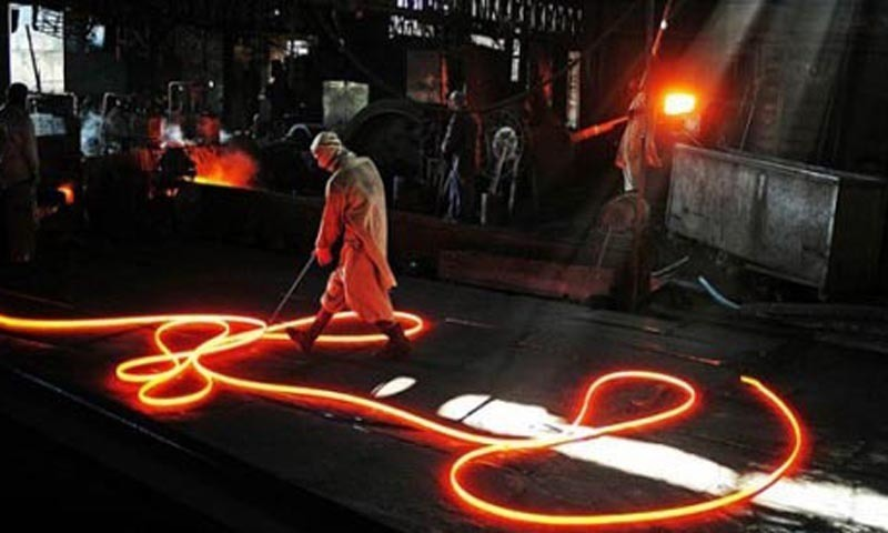 This photo depicts a worker at Pakistan steel Mills — Dawn/File