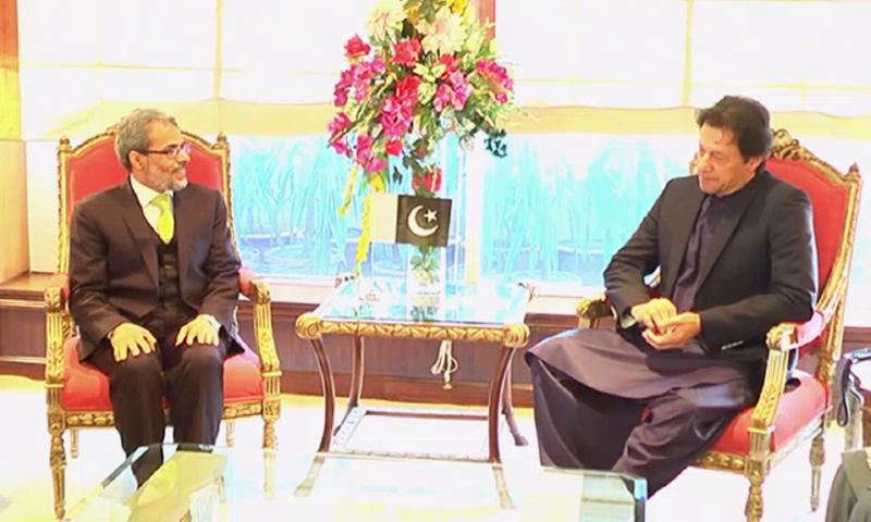 Ambassador of Yemen Mohammed Motahar Alashabi with Prime Minister Imran Khan. — DawnNewsTV