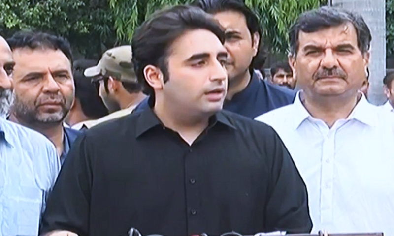 PPP Chairman Bilawal Bhutto-Zardari terms PTI govt's foreign policy, economic plan and ability to maintain law and order a failure. — DawnNews TV/File