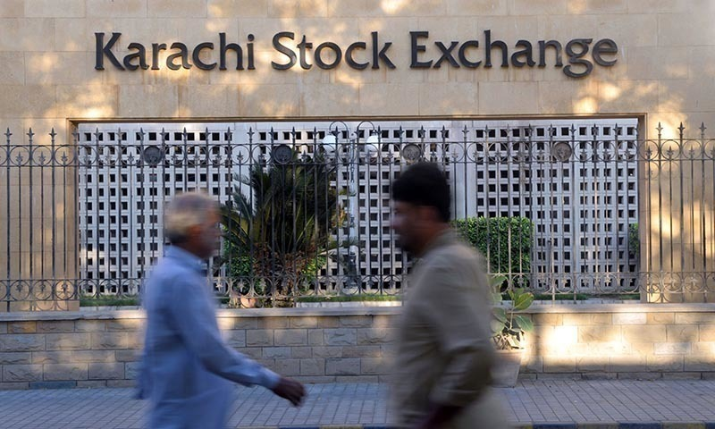 The KSE-100 index gains 1.43 per cent and closes at 41,544.— AFP/File