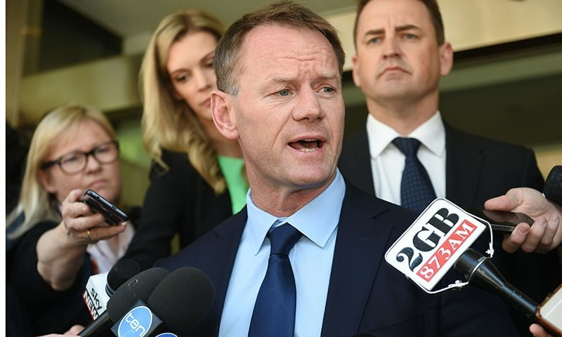 This file photo taken on November 4, 2016 shows Cricket Australia team performance chief Pat Howard speaking to the media in Sydney.  — AFP