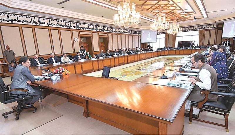 Prime Minister Imran Khan chairs a meeting of the federal cabinet at the PM Office. — APP/File