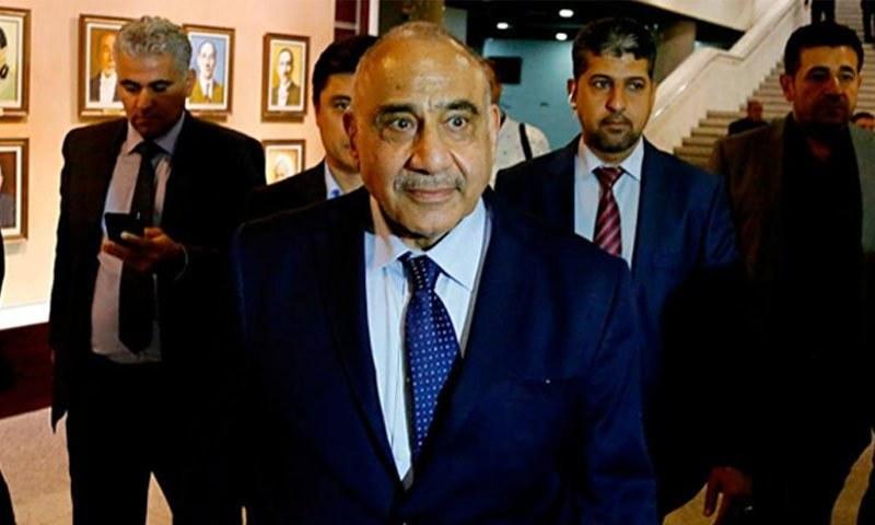 عراق کے وزیراعظم عادل عبدالمہدی— فوٹو: اے پی