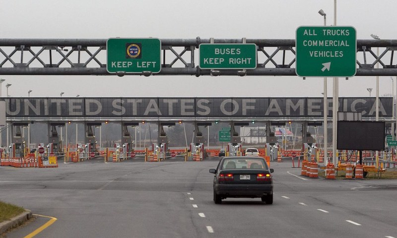 A photo of a border crossing between United States and Canada. — AFP/File
