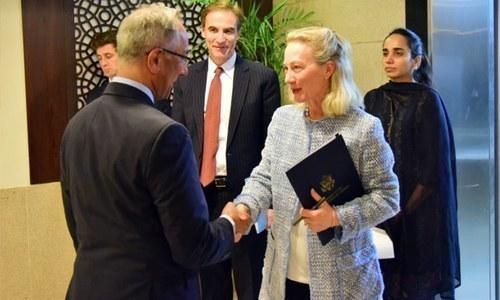 امریکی عہدیدار ایلس ویلز 6 نومبر کو پاکستان آئیں تھیں — فوٹو : وزارت خارجہ