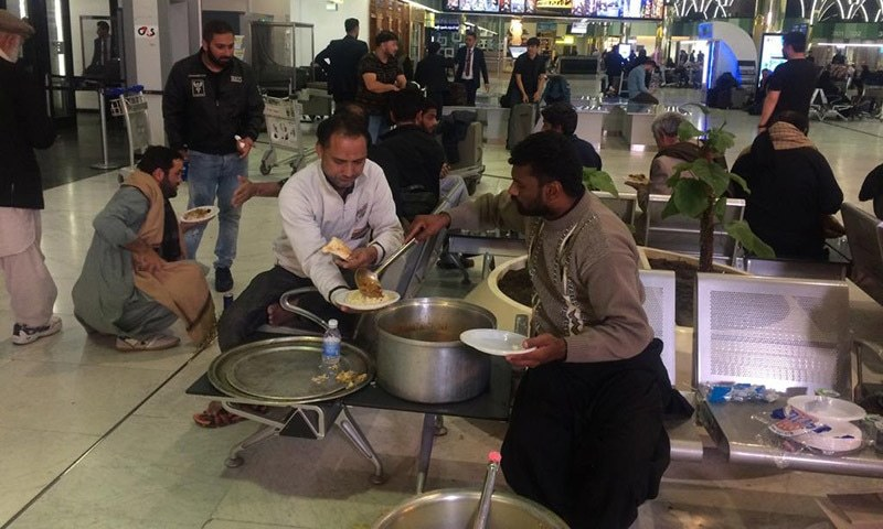 Embassy of Pakistan in Baghdad provided the Zaireen food, water and medicine. — Photo courtesy Foreign Office