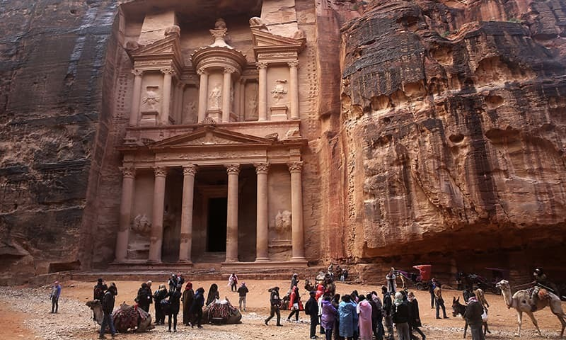 Floods kill 7 in Jordan, visitors seek high ground in ancient Petra