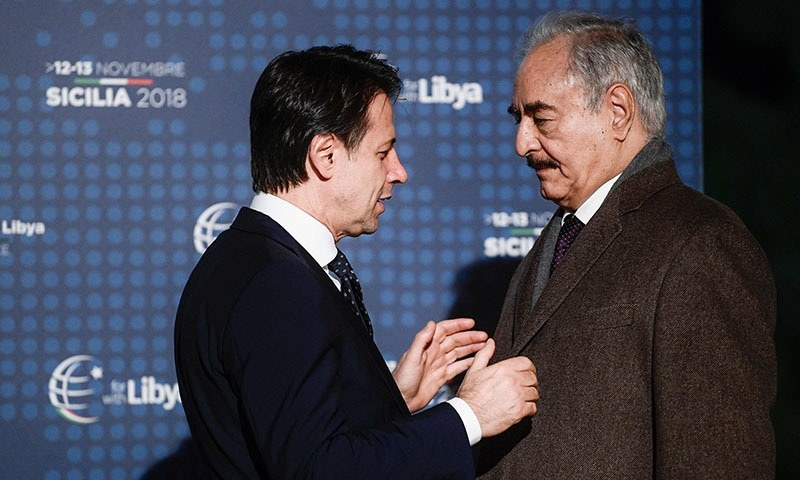Libyan kingpins meet in Italy despite warlord's reluctance