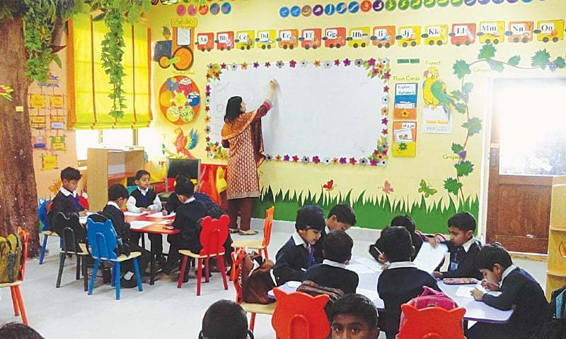 The file photo shows a class room.— Mirza Khurrum Shahzad/File