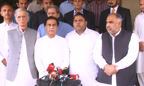 PTI has asked NA Speaker Asad Qaiser and Defence Minister Pervez Khattak to hold talks with the leaders of parliamentary parties.— DawnNewsTV/File