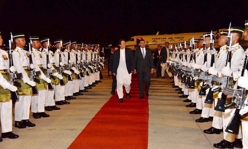 PM Khan reaches Malaysia on two-day official visit, will meet Mahathir Mohammad