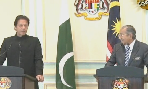 PM Khan seeks Malaysian cooperation in various fields, including economy.— DawnNewsTV