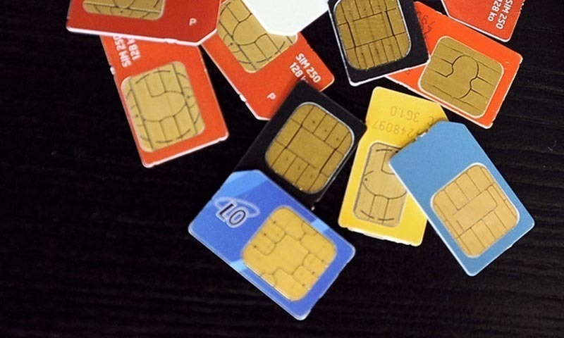 Officials say the govt should take the matter seriously as such SIMs could be used in disruptive activities.— AFP/File