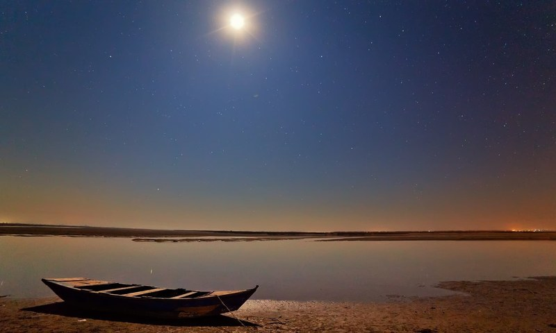 River Chenab at midnight. — S.M.Bukhari