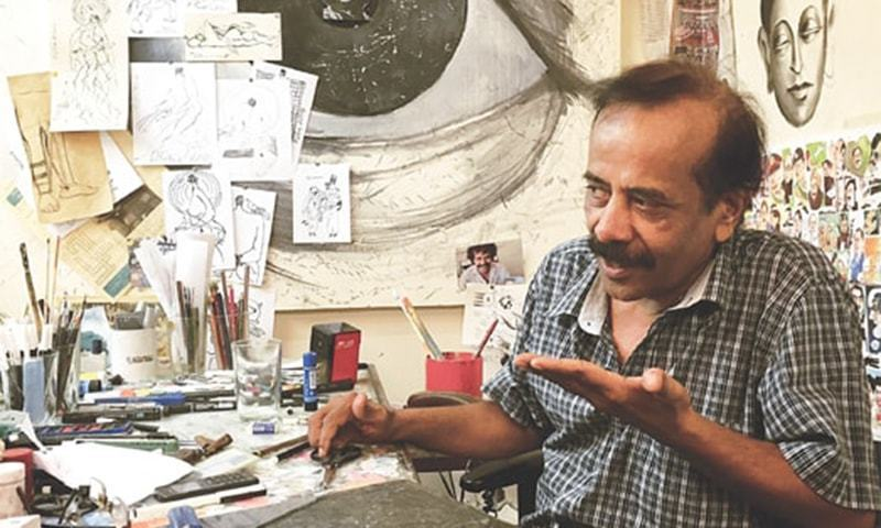 Rafique Ahmed, better known as Feica, is one of the most renowned political cartoonists in Pakistan. — File