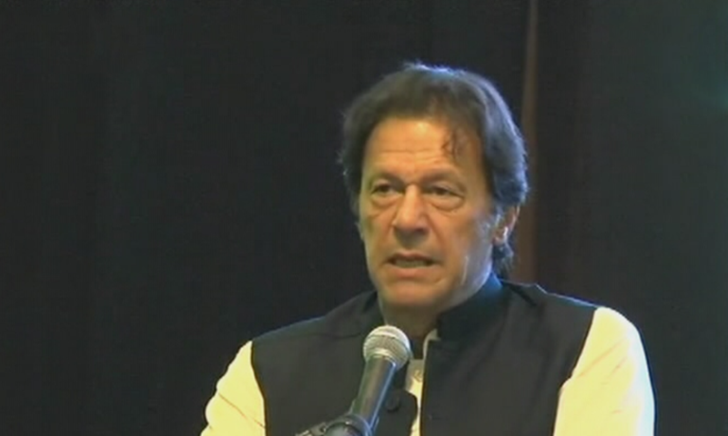 Prime Minister Imran Khan speaks to Pakistani community in Malaysia. — DawnNewsTv