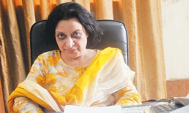 Fahmida Riaz at the Oxford University Press office in Karachi. This photograph was taken on June 16, 2010. —Fahim Siddiqi/White Star